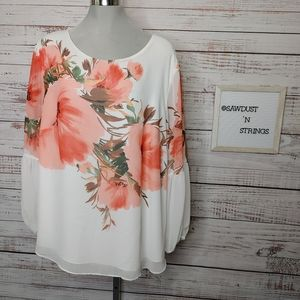 Stunning floral boho blouse size 20W